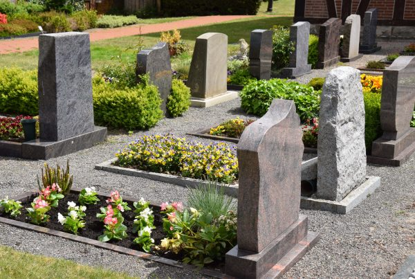 Cemetery images with beautifully manicured graves to illustrate other interment options