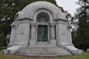 Large stone structure to illustrate a mausoleum